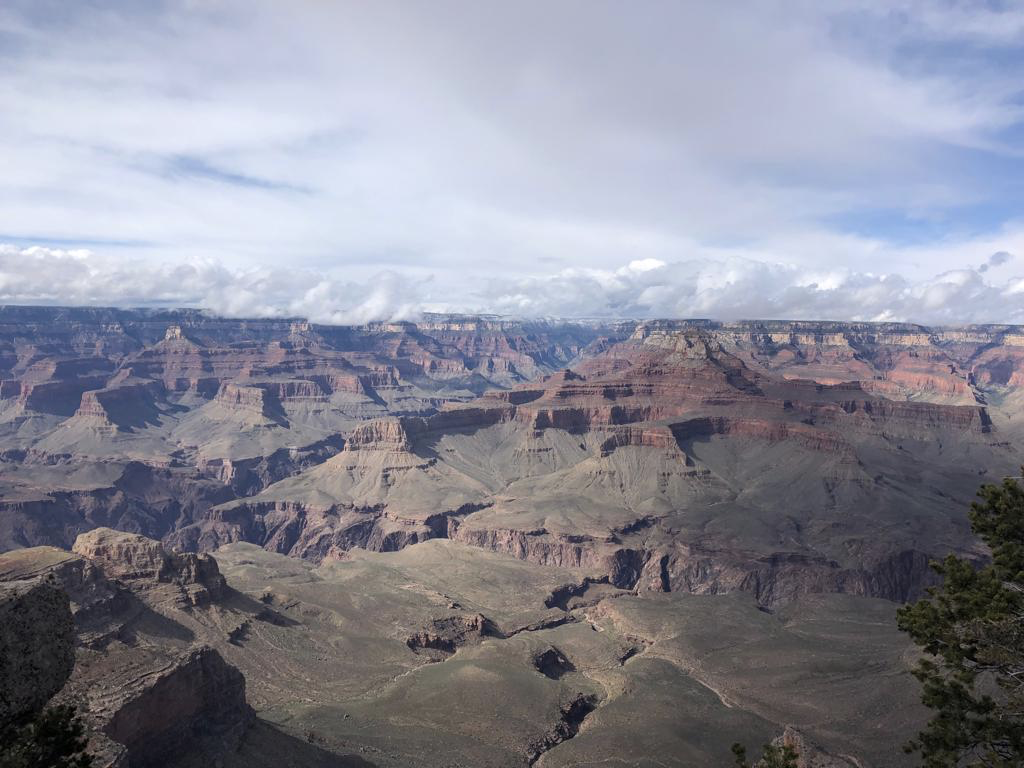 The Grand Canyon on a cold windy day